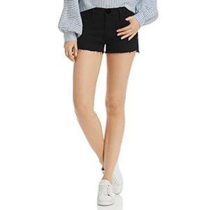 H&M Black Denim Jean Short Shorts Frayed Cuffs